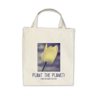 Plant the Planet! Grocery Tote Canvas Bags