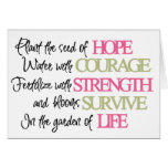 Plant the seed of HOPE Greeting Card