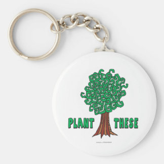 Plant Trees Keychain
