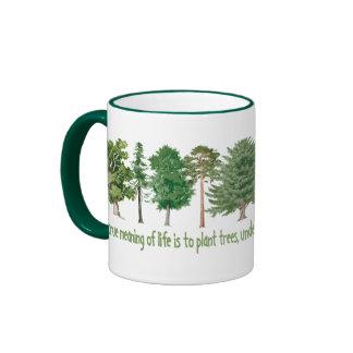 Plant Trees Ringer Mug