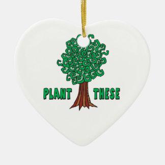 Plant Trees Christmas Tree Ornaments