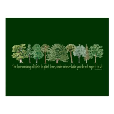 GreenNeighbor Plant Trees Postcard