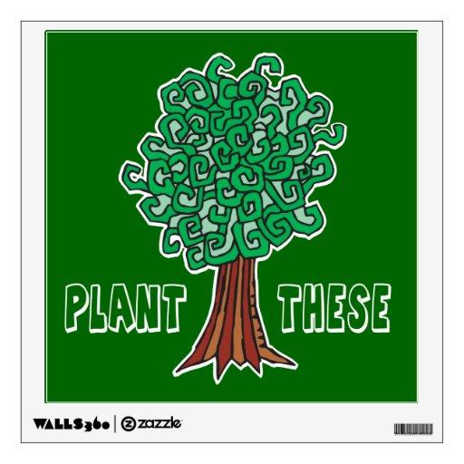 Plant Trees Room Graphics