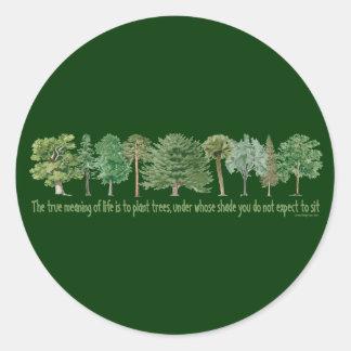 Plant Trees - Tree Lover, Hugger Classic Round Sticker