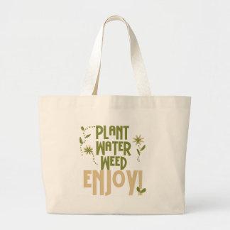 Plant Water Weed Enjoy Large Tote Bag