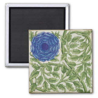 Plant with a blue flower (w/c on paper) fridge magnets
