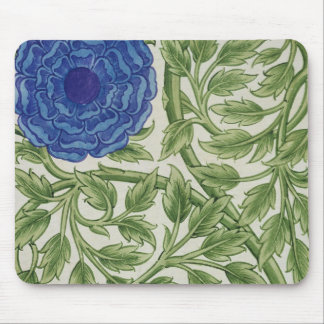 Plant with a blue flower (w/c on paper) mouse pad