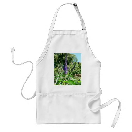 Plant With Purple Flowers Adult Apron
