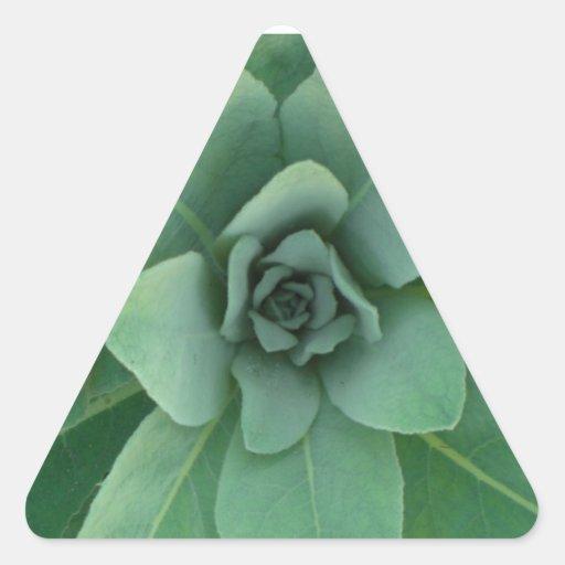 Planta acodada verde pegatina de triangulo personalizadas