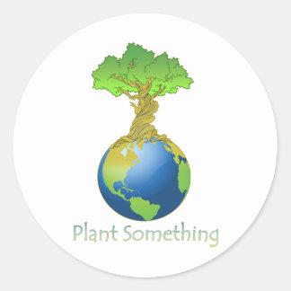Planta algo etiqueta redonda