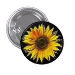 Planta amarilla de la flor de Sun del girasol Pin Redondo De 1 Pulgada