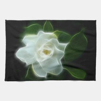 Planta blanca de la flor del Gardenia Toallas De Mano