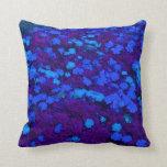 planta coloreada maravilla azul del bonito del cam cojines