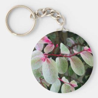 planta colorida del snowbush llavero personalizado