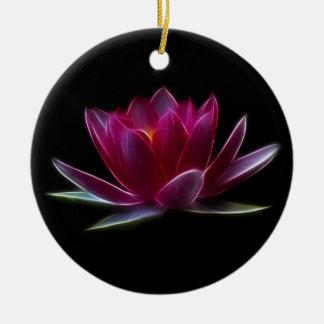 Planta de agua de la flor de Lotus Ornamentos De Navidad