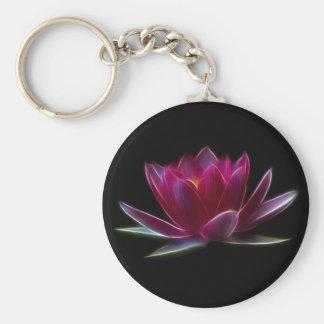Planta de agua de la flor de Lotus Llavero Redondo Tipo Pin
