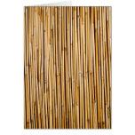 Planta de bambú tropical de Brown botánica Felicitacion