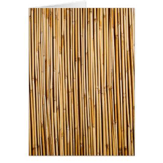 Planta de bambú tropical de Brown botánica Tarjeta Pequeña
