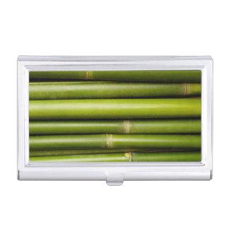 Planta de bambú tropical verde botánica cajas de tarjetas de presentación