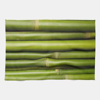 Planta de bambú tropical verde botánica toallas
