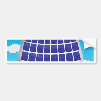 Planta de energía solar etiqueta de parachoque