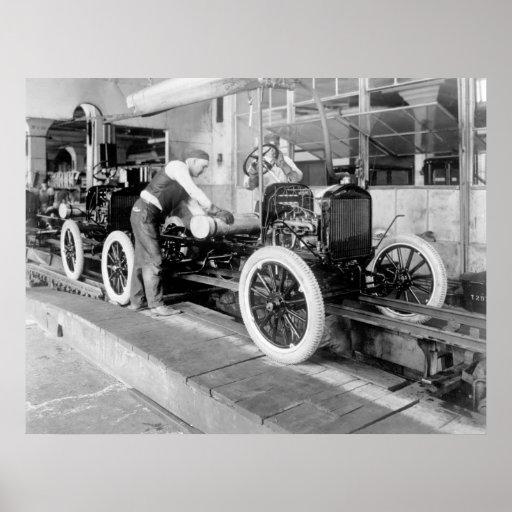 Planta de fabricación auto, los años 20 póster
