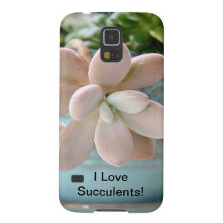 Planta de haba rosada suculenta de jalea de Sedum Carcasa Galaxy S5