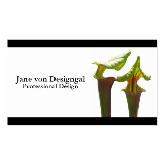 Planta de jarra carnívora plantilla de tarjeta de negocio