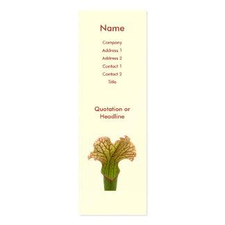 Planta de jarra del Sarracenia Tarjeta De Visita