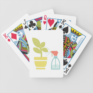 Planta de la casa del agua baraja cartas de poker