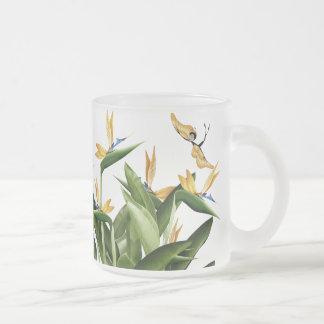 Planta de la fantasía de la ave del paraíso taza cristal mate