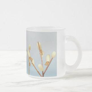 Planta de la fantasía del sauce de gatito taza cristal mate
