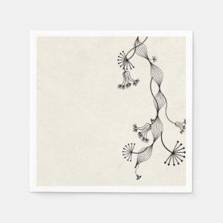 planta de la flor del vintage servilletas desechables