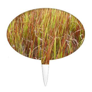 Planta de la Florida del fondo de los sawgrass de  Decoración Para Tarta