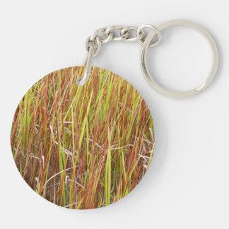 Planta de la Florida del fondo de los sawgrass de  Llavero Redondo Acrílico A Doble Cara