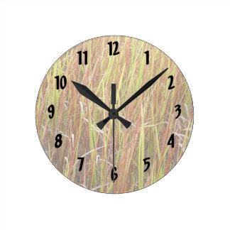 Planta de la Florida del fondo de los sawgrass de  Reloj Redondo Mediano