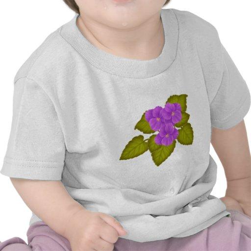 Planta de la violeta africana camiseta