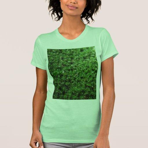 Planta de tierra verde botánica al aire libre de l camiseta