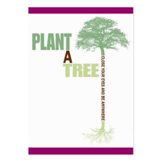 Planta del ATC de ACEO un árbol Plantillas De Tarjetas Personales
