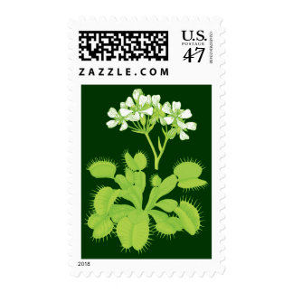 Planta del atrapamoscas de Venus Sello Postal