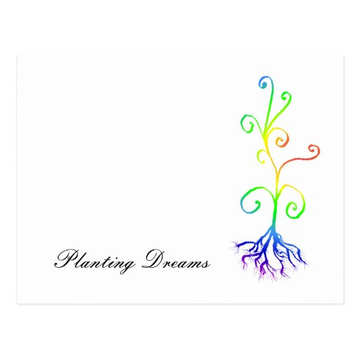 planta del chakra, plantando sueños tarjetas postales