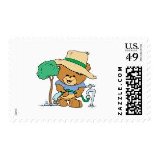 planta del Día de la Tierra un diseño del oso de Sello