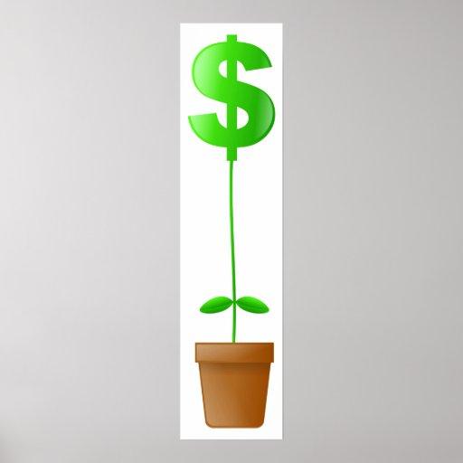 Planta del dólar poster