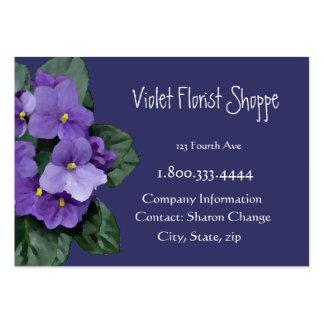 Planta elegante de la violeta africana de la flor  plantilla de tarjeta de negocio