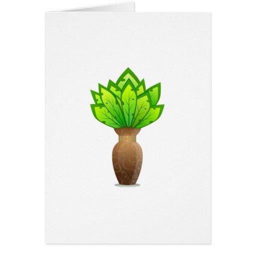 Planta en florero tarjeta pequeña