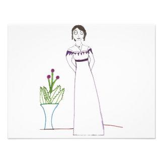 Planta espeluznante de Jane Austen Invitacion Personal
