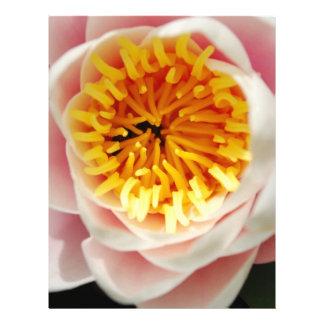 Planta/flor nenufar hermosas membretes personalizados