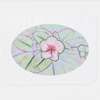 planta floral colorida del bosquejo de la flor de  manta de bebé