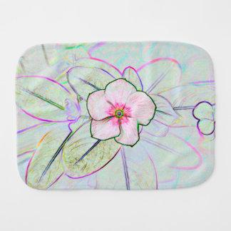 planta floral colorida del bosquejo de la flor de  paños de bebé