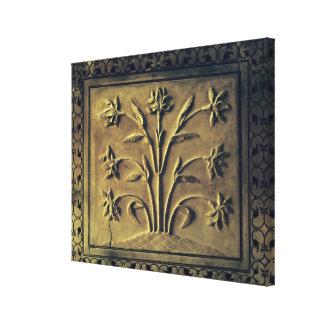Planta floreciente, el panel del detalle impresión de lienzo